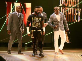 Shelton Benjamin, Cedric Alexander, MVP and Bobby Lashley. Picture: WWE.