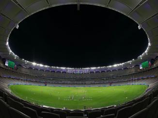 Optus Stadium lies empty as Fremantle hosts North Melbourne