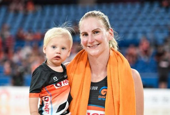 April Brandley with son Clay