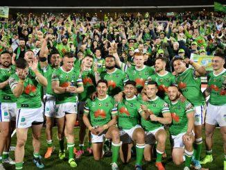 Canberra Raiders Celebrating