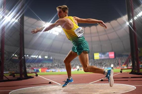 Decathlon athlete Cedric Dubler