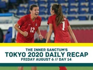 Julia Grosso (r) realises she's scored the winning penalty.