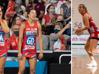 Sophie Garbin, Lauren Moore and Natalie Haythornthwaite (L-R) have announced their departures from the Swifts.